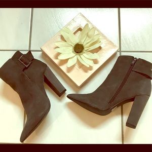 Suede boots/ gray/ Shoemint / Nice!✨